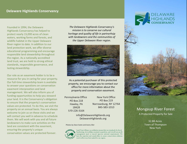 17-11-14 Hand Property Brochure - Delaware Highlands Conservancy
