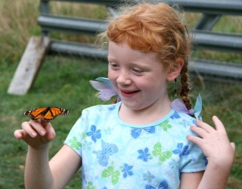 katie with butterfly