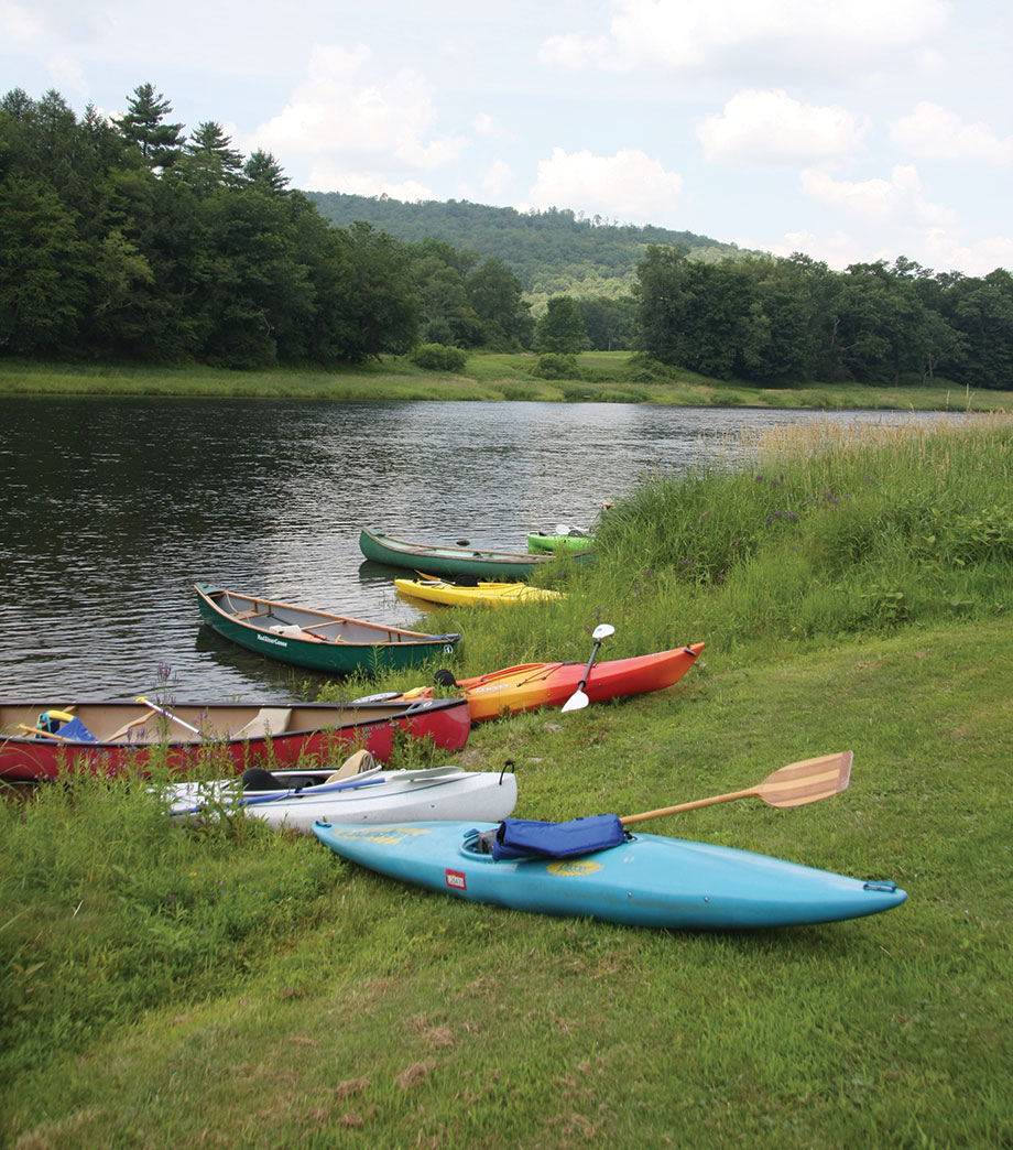 Delaware River with kayaks