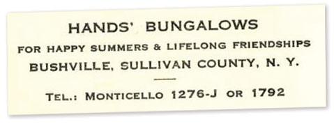 Hands bungalows letterhead