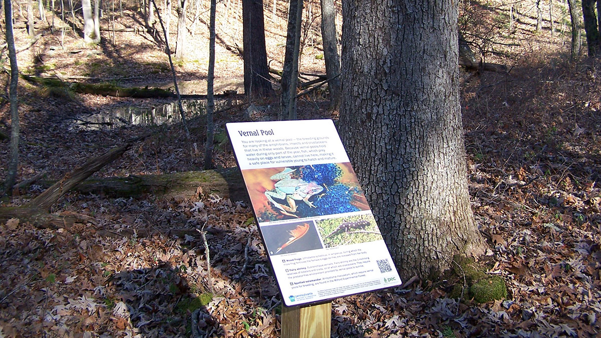 Milford Experimental Forest sign