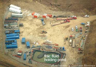 Marcellus Frack Fluid Holding Pond