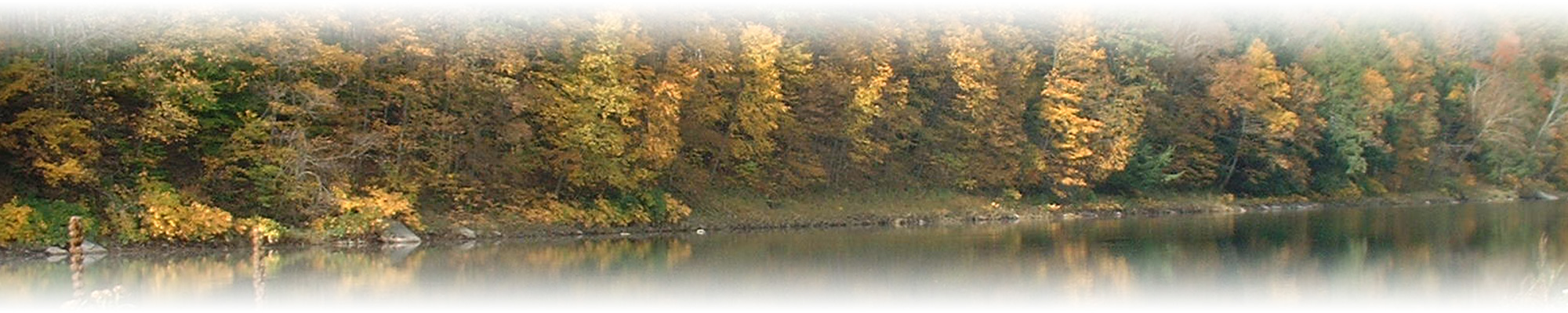 Delaware River in fall